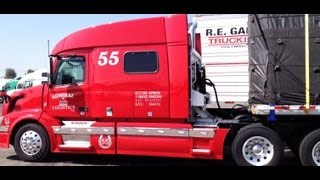 Download American Trucks At Truck Stop - Trucks in USA Video