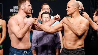 Download UFC 211 Weigh-Ins: Stipe Miocic vs. Junior dos Santos 2 Staredown - MMA Fighting Video