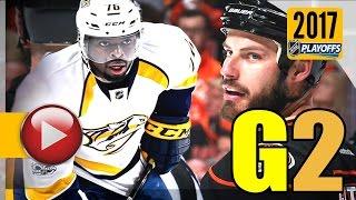 Download Nashville Predators vs Anaheim Ducks. NHL 2017 Playoffs. Western Conference Final. Game 2. (HD) Video