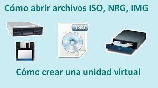 Download Como abrir archivos ISO, IMG, NRG, BIN, UIF con una unidad virtual. Video