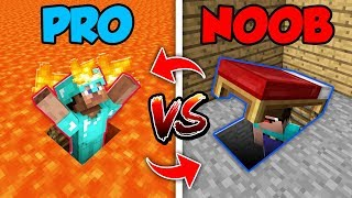 Download Minecraft NOOB vs. PRO : SWAPPED SECRET ENTRANCE in Minecraft (Compilation) Video