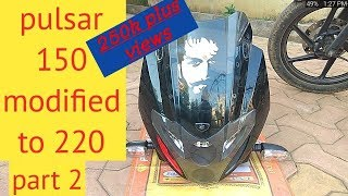 Download How to Pulsar 150 modified to pulsar 220 |part 2 Video