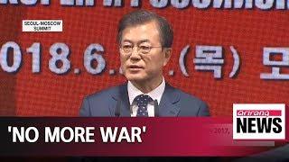 Download President Moon assures ″no more war″ on the Korean Peninsula Video