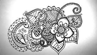 Download Họa tiết trang trí mỹ thuật - how to draw mandala - Doodle Video
