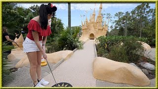 Download DISNEY WORLD HAS THE BEST MINI GOLF COURSES EVER! - CRAZY HOLE IN ONES! Video
