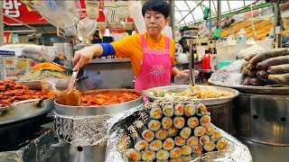 Download KOREAN STREET FOOD - Gwangjang Market Street Food Tour in Seoul South Korea | BEST Spicy Korean Food Video