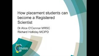 Download ChemCareers 2018 How placement students can become a Registered Scientist (RSci) Video