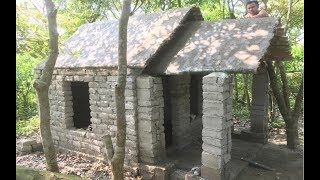 Download Building beautiful roman house | Primitive technology with manual construction skills Video