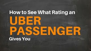 Download How To See What Rating An Uber Passenger Gave You - Uber Driver Stars Video