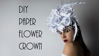 Download DIY Paper Headpiece, Flower Crown @irenerudnykphoto Cheap and Easy Video