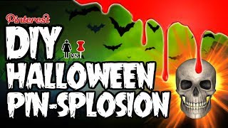 Download 🎃 DIY Halloween PIN-SPLOSION! PIZZA SKULLS, FINGER CANDLES, AND BEARS! OH MY Video