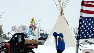 Download Snowstorm threatens pipeline protesters Video