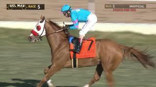 Download Oscar Dominguez wins Hollywood Turf Cup (Grade II) race 5 at Del Mar 12/1/19 Video