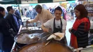 Download Fresh Tandoori Clay Oven Naan wraps at Indian Seasoning Street Food stall - Alchemy Festival, London Video