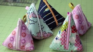 Download DIY Triangle Zipper Pouch Tutorial Video