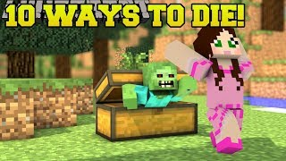 Download Minecraft: STRANGEST DEATHS POSSIBLE!!! 10 MORE WAYS TO DIE - Custom Map Video