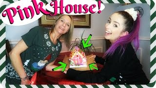 Download Making a PINK Gingerbread House WITH MY MOM!!!! Video