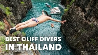 Download The Best Cliff Divers In the World Compete In Thailand Video