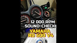 Download YAMAHA RD 500 V4    Sound-check after jetting Video
