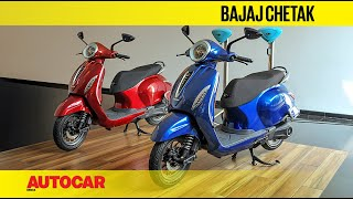 Download 2019 Bajaj Chetak Electric Walkaround | First Look | Autocar India Video