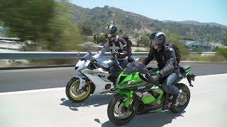 Download Sportbike vs. Naked Bike: ZX-6R vs. YZF-R6 & Z900 vs. FZ-09 — ON TWO WHEELS Video