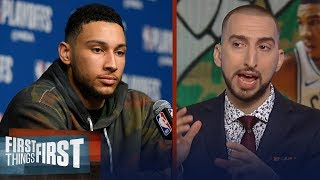 Download Nick Wright on why Boston dominating 76ers reveals Ben Simmons' weakness | NBA | FIRST THINGS FIRST Video