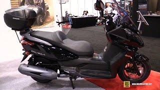 Download 2016 Kymco Downtown 300i Scooter - Walkaround - 2015 AIMExpo Orlando Video