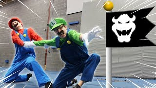 Download Mario VS Luigi racing Super Mario Bro U Deluxe level - In real life Video