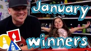 Download January Art Supply Giveaway Winners + Mail Time Video
