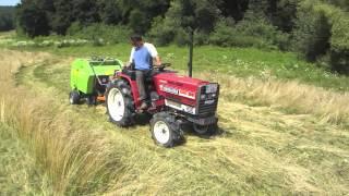 Download Körbálázó japán kistraktorokhoz. Mini round baler for Japanese compact tractors. Video