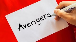 Download Avengers ! HOW TO TURN WORDS (AVENGERS) INTO CARTOON FOR KIDS Video