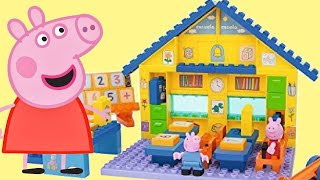 Download Learn Number Nick Jr. Peppa & George Pig School Construction Duplo Playset, Toy Surprises / TUYC Video