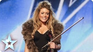 Download Posh violinist Lettice Rowbotham gives the Judges something new | Britain's Got Talent 2014 Video