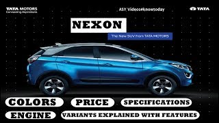 Download TATA NEXON : VARIANTS/ COLORS/ PRICE/ SPECIFICATIONS/ MILEAGE Video