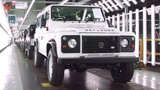 Download 2015 Land Rover Defender Production Line Part 1/2 Factory LR Defender Final Edition 2015 CARJAM TV Video