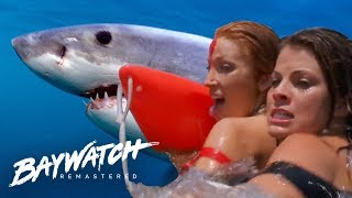 Download Shark Attacks As Helicopter Crashes Into The Sea! Baywatch Remastered Video