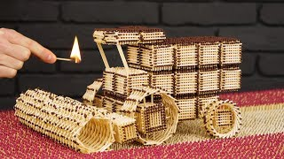 Download How to Build Combine Harvester from Matches Without Glue Video