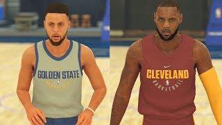 Download NBA 2K18 Warriors vs Cavaliers Full Gameplay 5v5! Stephen Curry vs LeBron James Video