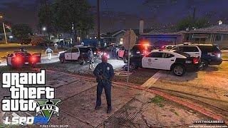 Download GTA 5 LSPDFR 0.3 - EPiSODE 4 - LET'S BE COPS - CITY PATROL (GTA 5 PC POLICE MODS) DRUG BUST Video