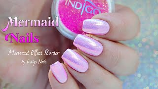 Download MERMAID NAILS | Indigo Nails Mermaid Effect Powder (Pastel Pink) Video