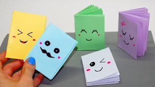 Download DIY Kawaii notebook of 1 sheet of paper / Mini notebook OF OWN HANDS / Ideas for school / Julia DIY Video