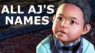 Download The Walking Dead Episode 1 - All AJ's Name Choices & Jane's Reactions (Season 3 A New Frontier) Video