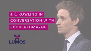 Download J.K. Rowling in conversation with Eddie Redmayne at Carnegie Hall (full 27 minutes) Video