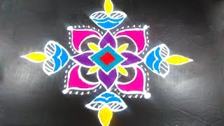 Download #228 - Rangavalli for Festival | 9 to 1 Straight Dots | Easy Rangoli Designs with Kolam Design Video