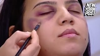 Download A Tutorial on Covering Up Domestic Violence Injuries with Makeup Sparks Backlash Video