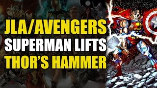 Download Superman Lifts Thor's Hammer (JLA/Avengers: Marvel vs DC Crossover) Video