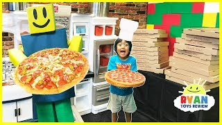 Download ROBLOX Work at a Pizza Place In real life Pretend Play food Video