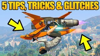 Download GTA 5 Online - 5 NEW GLITCHES & TRICKS! (Fly Oppressor MKII Upside Down, Super Speed Glitch & More) Video