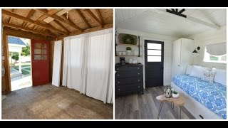 Download A garden shed is transformed into a guest house on time lapse (see FAQs in description) Video