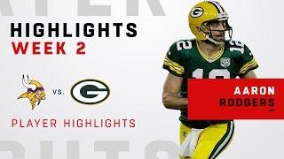 Download Aaron Rodgers' Week 2 Highlights vs. Minnesota Video